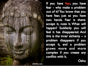 Fear Osho quote