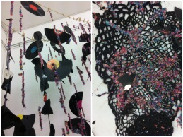 Art installation at Open Draw created by artists who use vinyl to create their work.