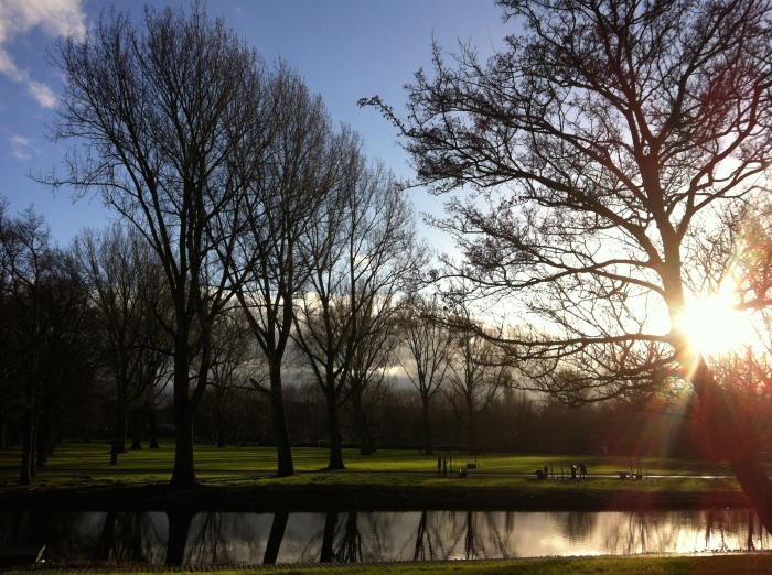 I filled my Christmas Eve and Day with walks and cycle rides around nearby parks and lake.