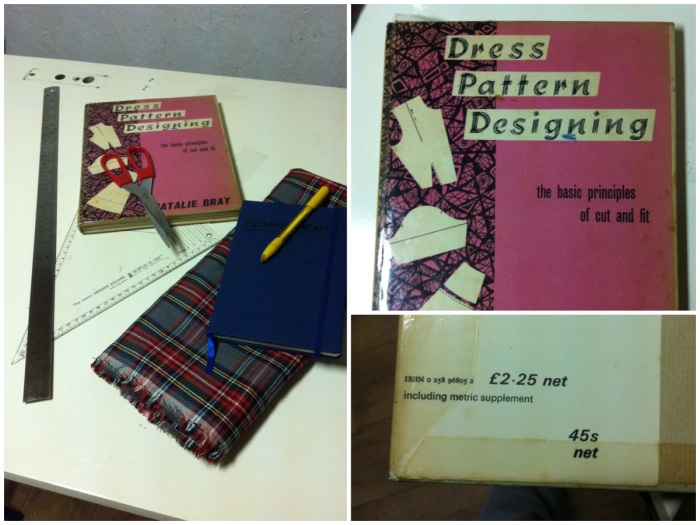 My old pattern cutting book. The UK went metric in 1971. I still remember items having both metric and imperial prices on them.