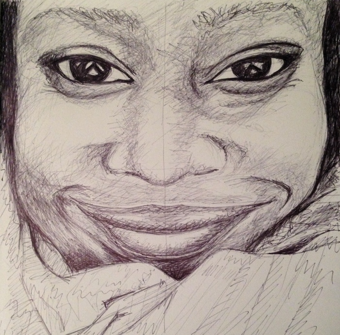 Tanya Moodie. Pen on cartridge paper. 2015